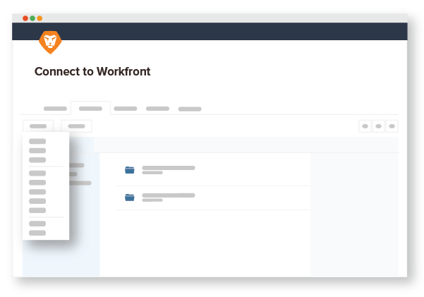Connect to Workfront