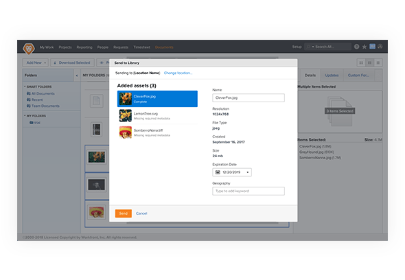 Integrate with Workfront
