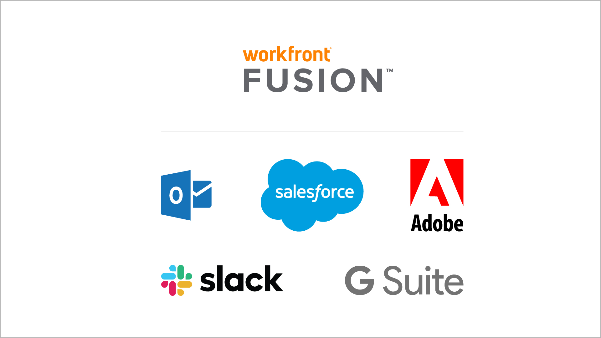 Salesforce, Adobe, Slack, G-Suite logos