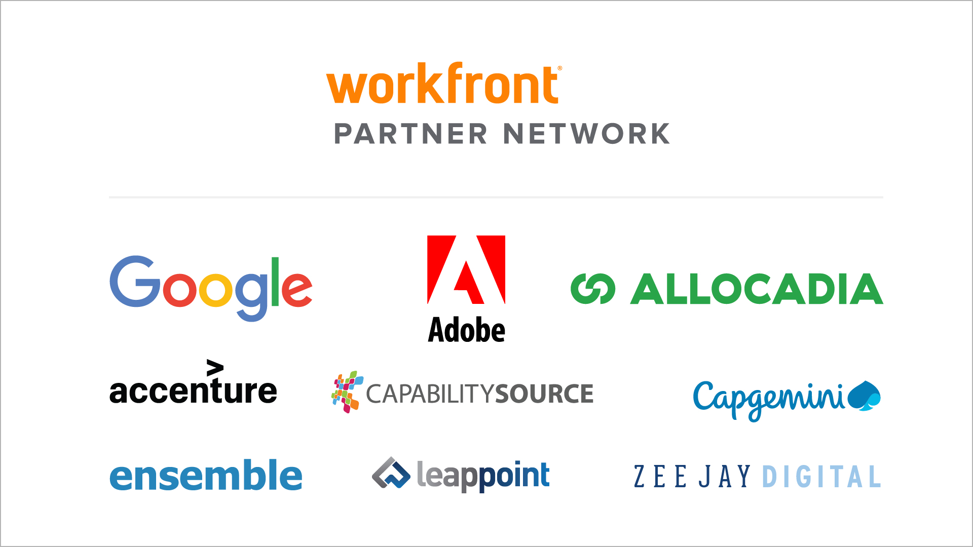 Workfront partner logos