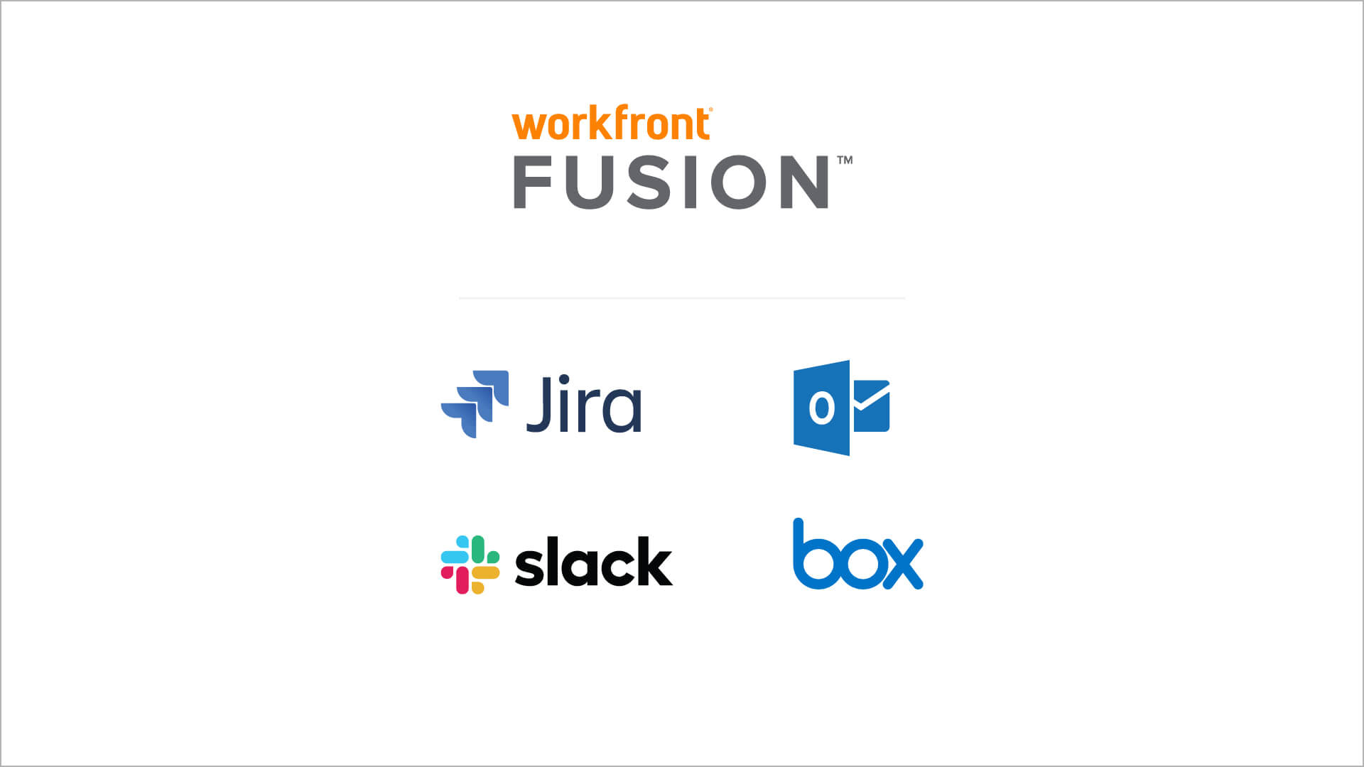 jira, box, slack, outlook integration logos