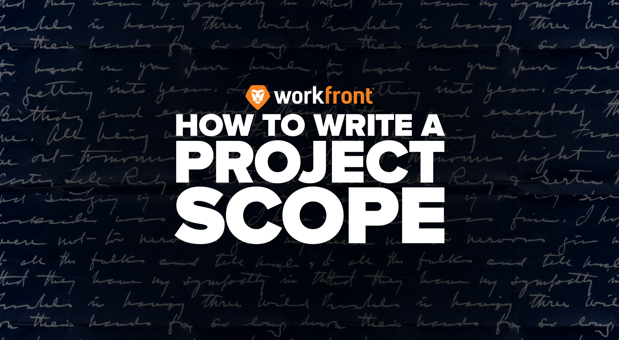 Writing a project scope