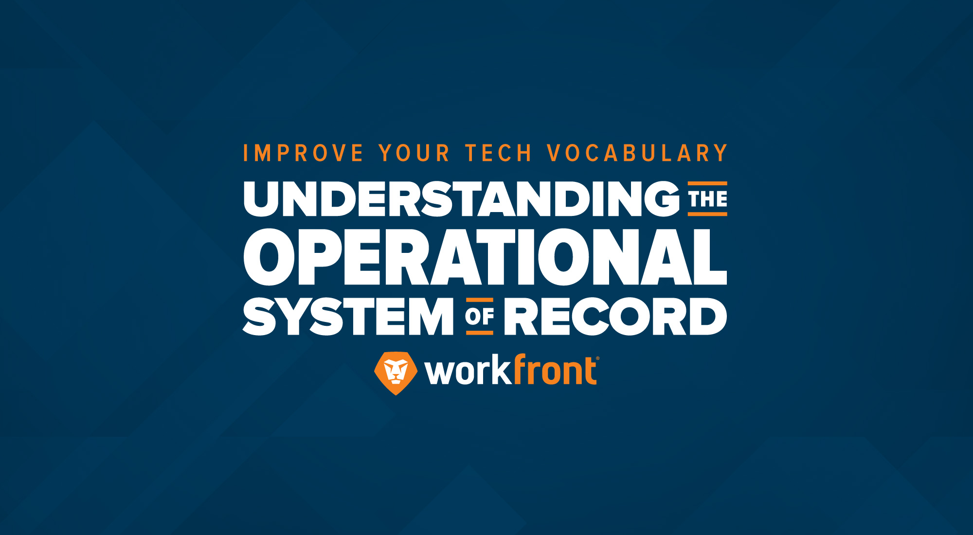 operational system of record