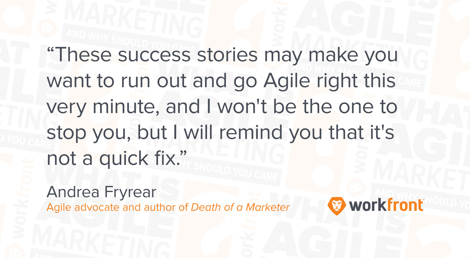 agile marketing advice
