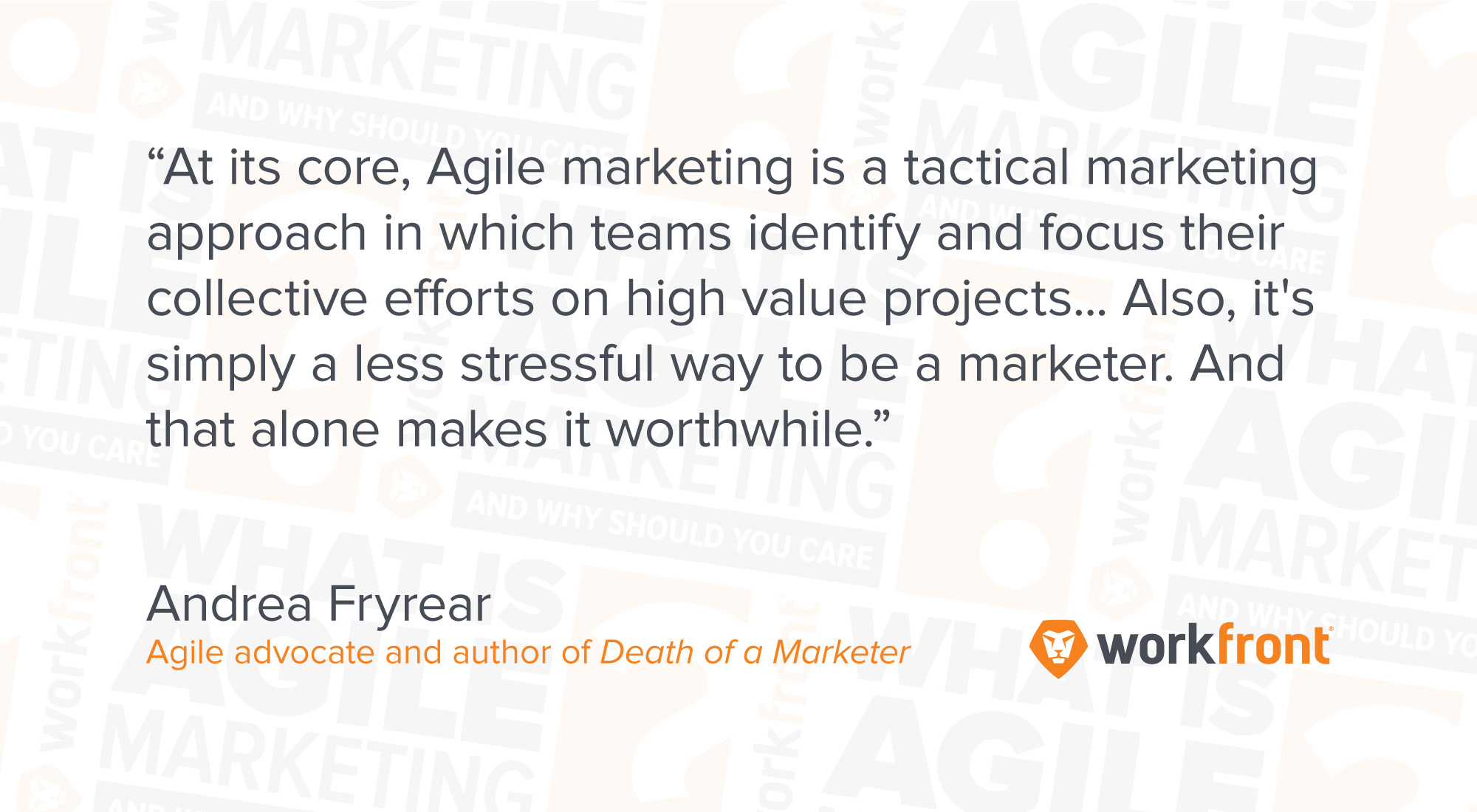 what is agile marketing and why you should care workfront