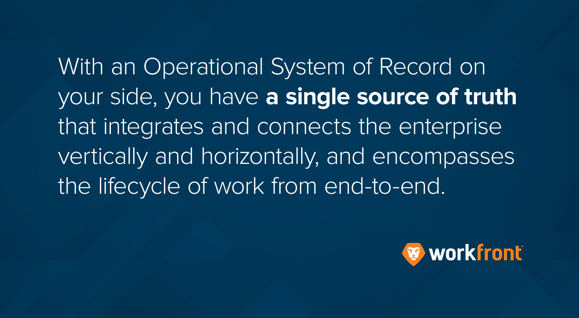 why operational system of record (OSR)