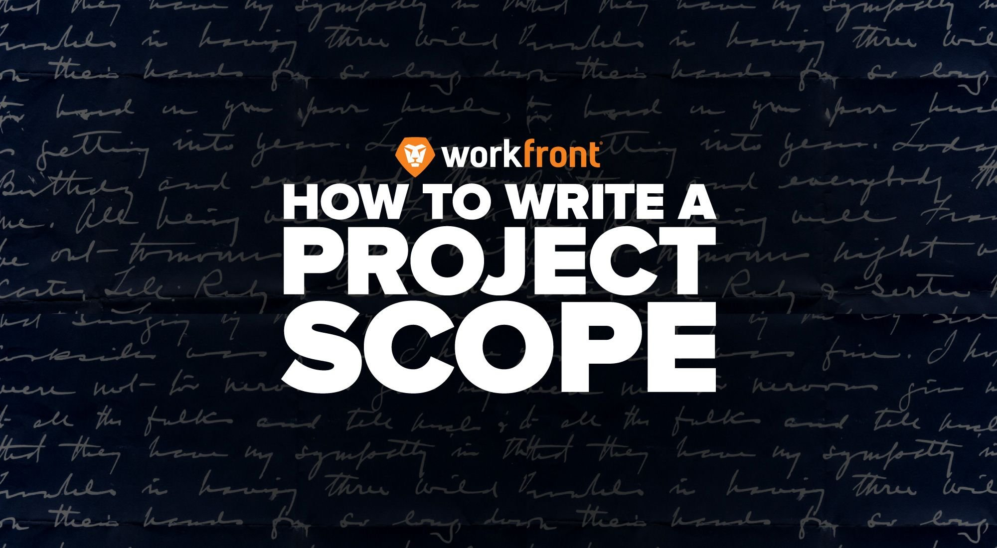 how to write a project scope