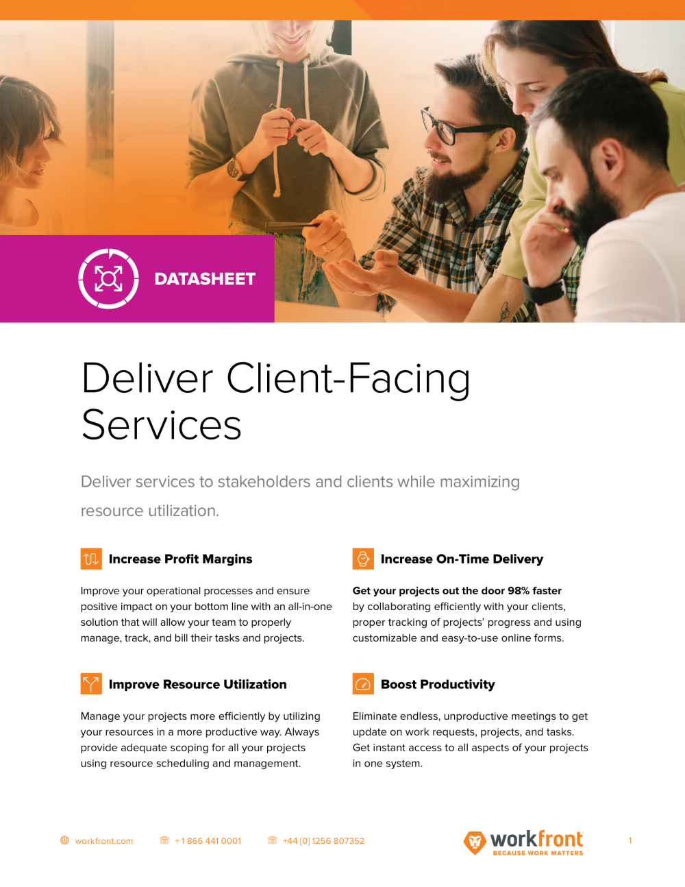 Deliver Client Facing Services Datasheet