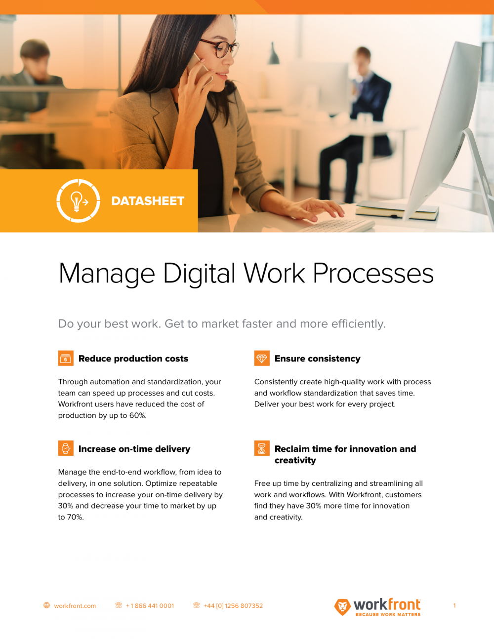 Manage Digital Work Processes Datasheet