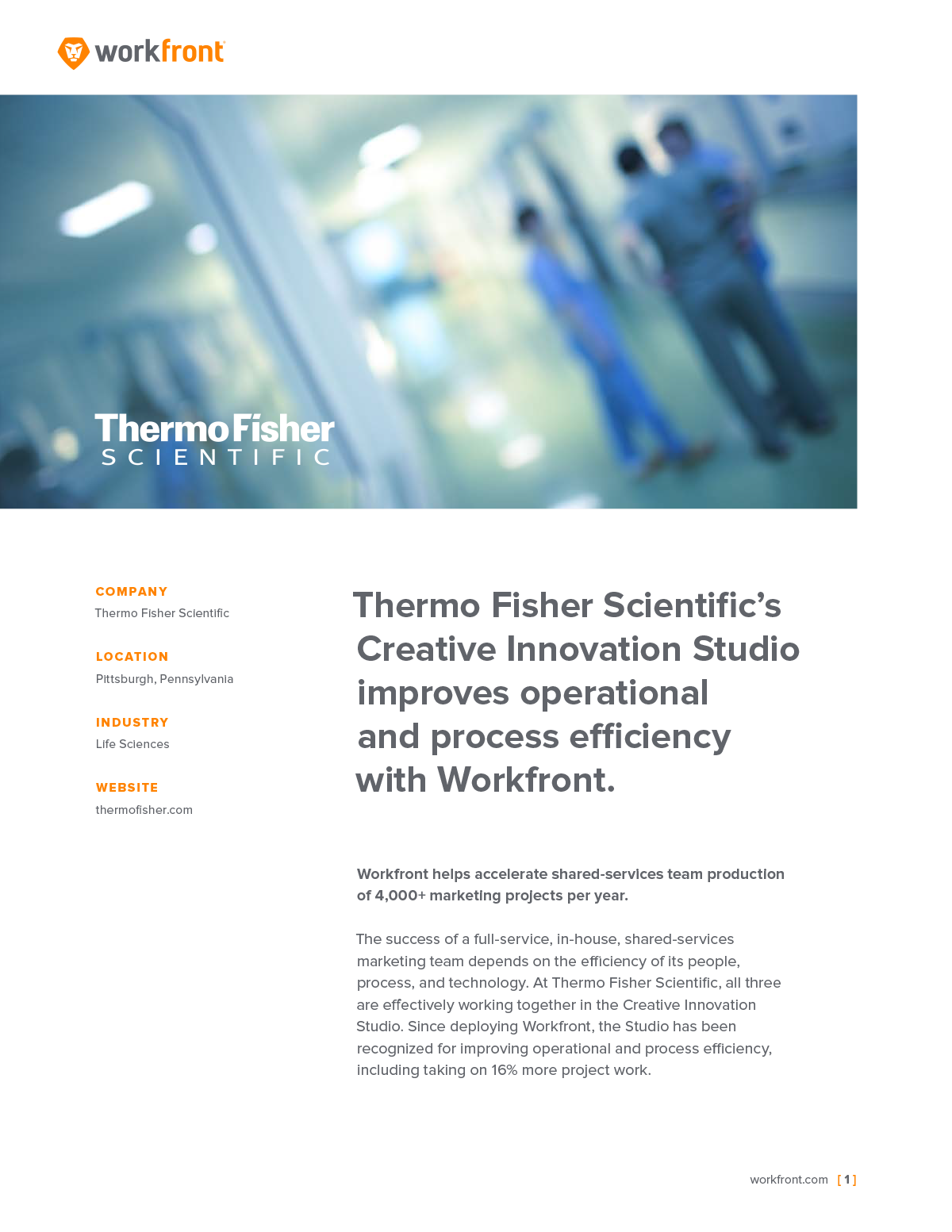 Thermo Fisher Case Study