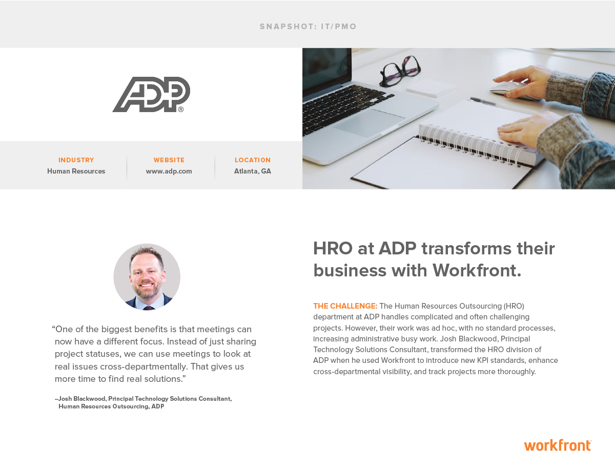 ADP Business Transformation Snapshot