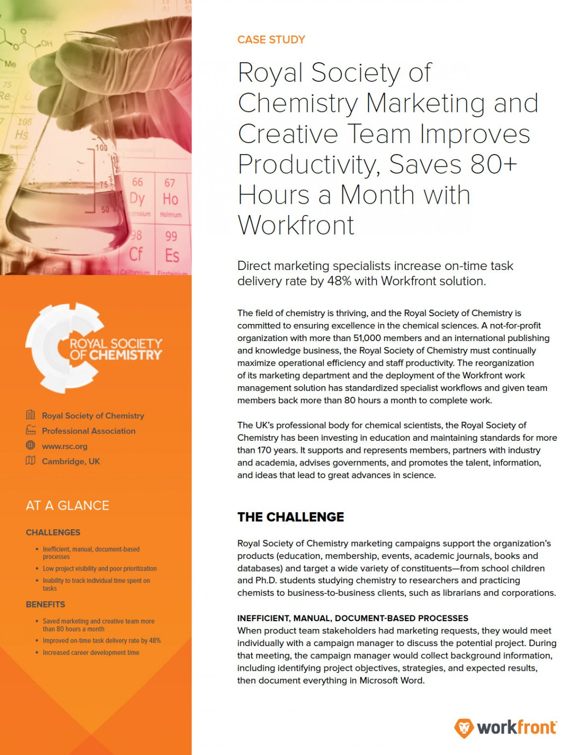 Royal Society of Chemistry Case Study Preview