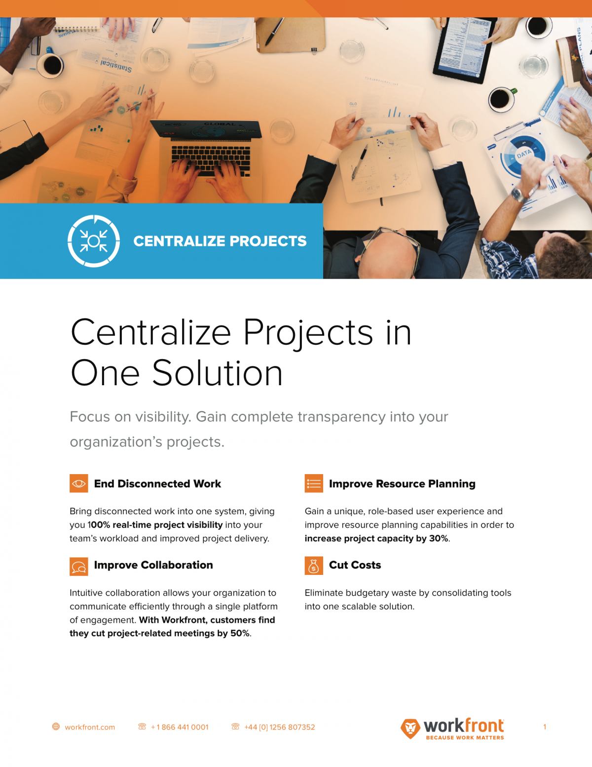 Centralize Projects in One Solution Datasheet