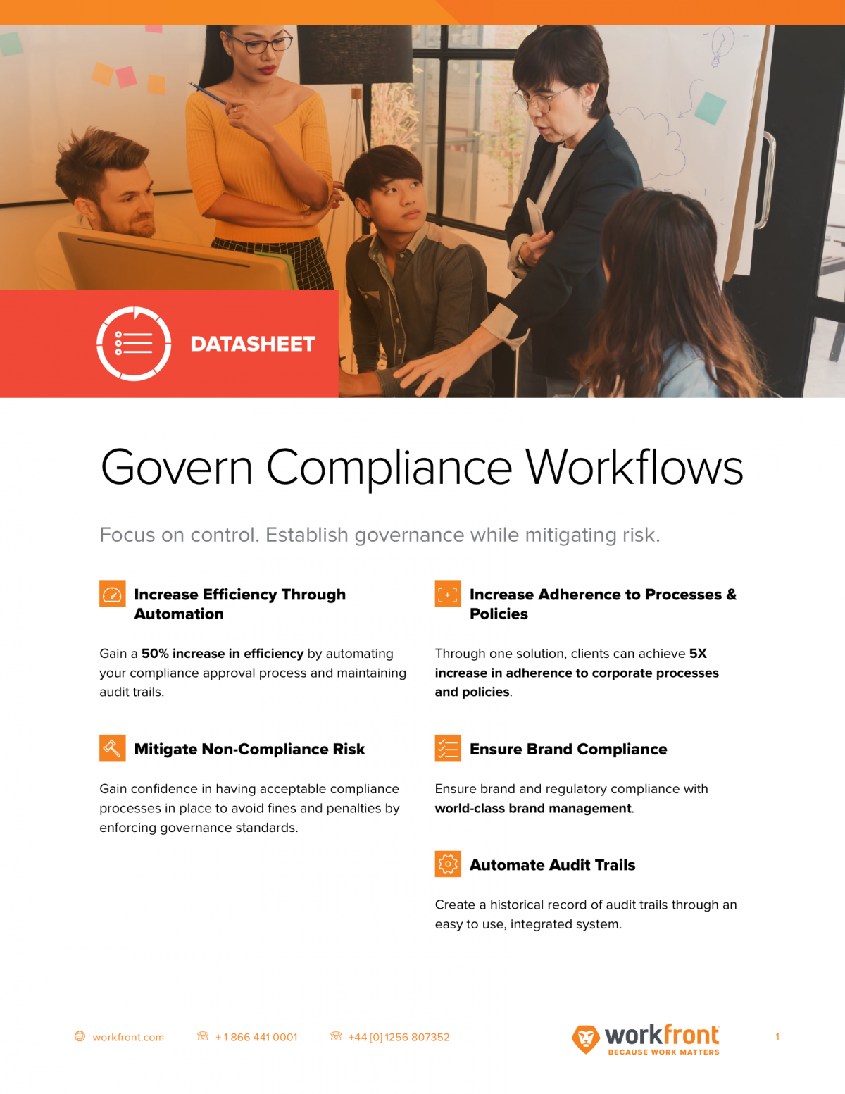 Govern Compliance Workflows Datasheet