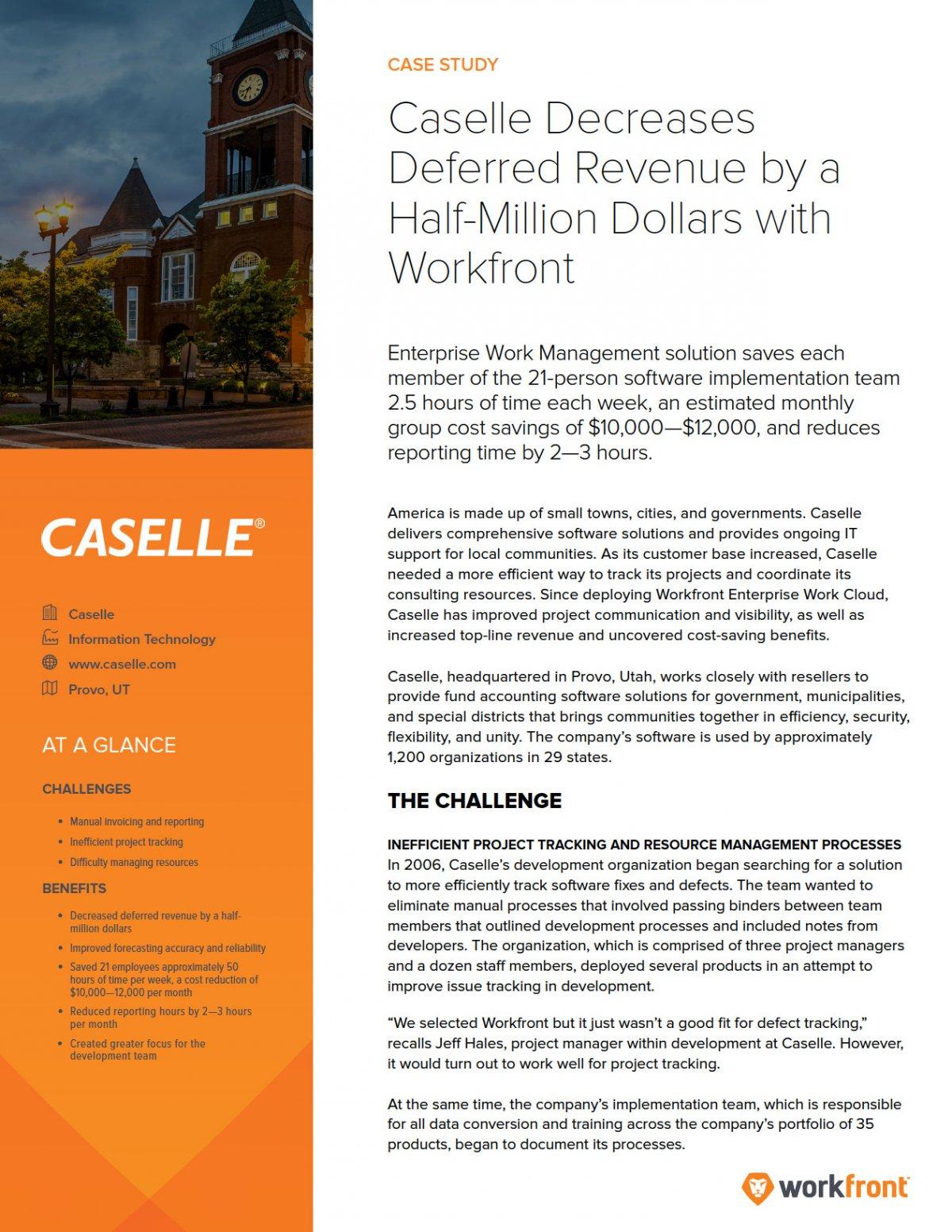 Caselle Case Study | Workfront