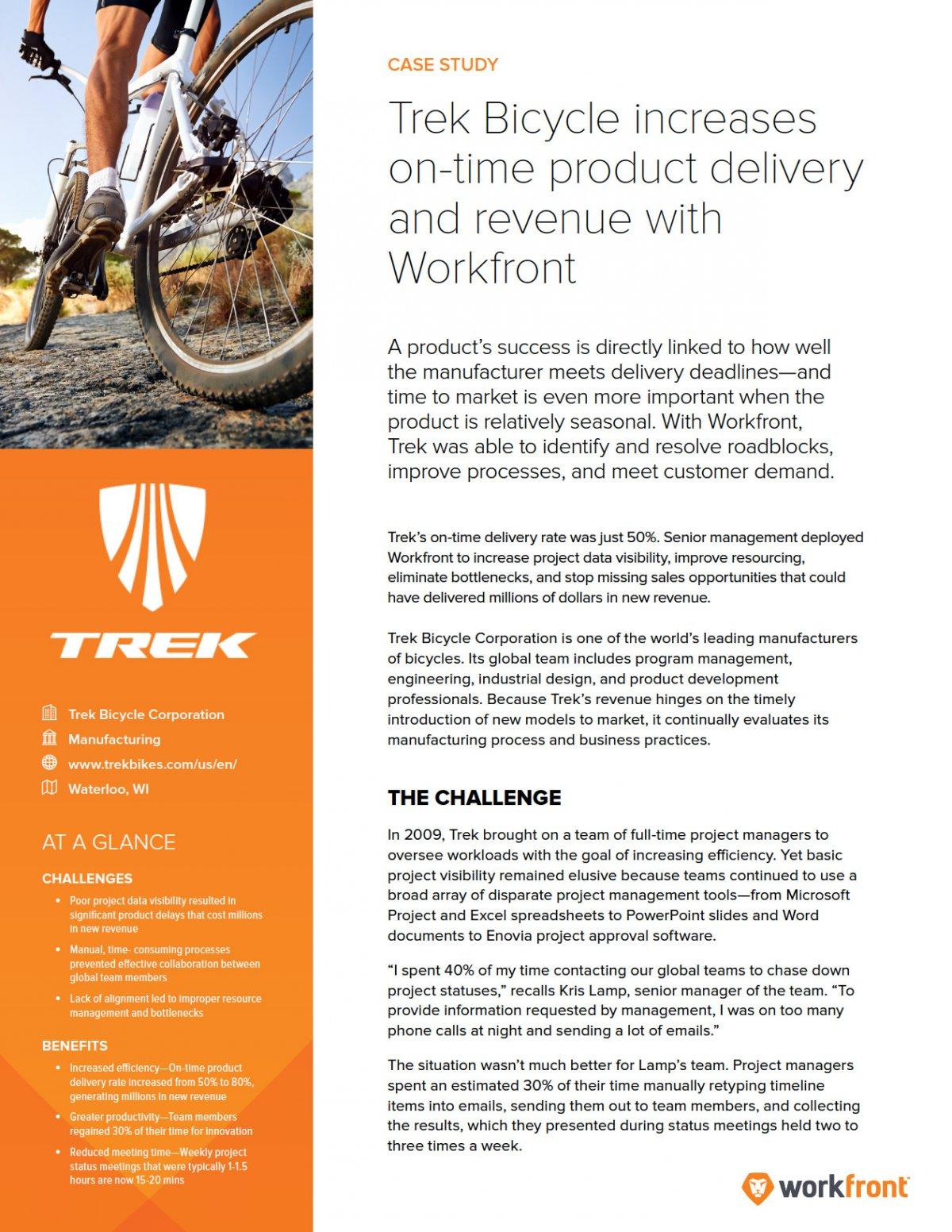 Trek Bicycle Case Study | Workfront