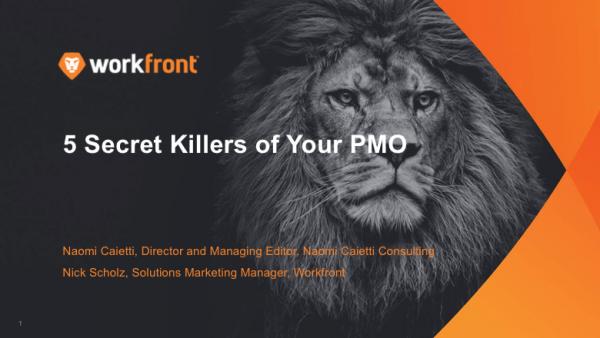 5 Secret Killers of Your IT PMO: Part 2