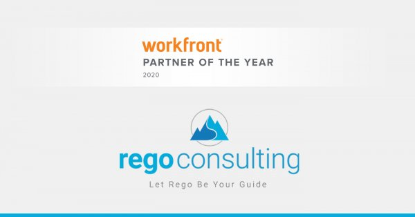 Rego consulting is a Workfront 2020 Partner of the Year