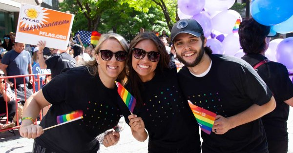 Workfront employees march at the Utah Pride Festival