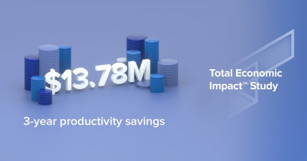 3-year productivity savings for the IT PMO was 13.78 million dollars according to Forrester