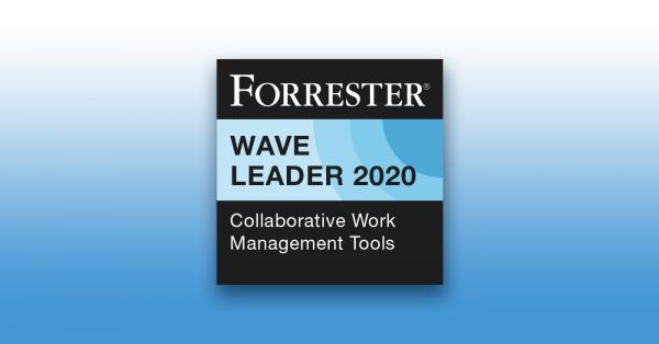 Forrester Wave Leader 2020 Collaborative Work Management Tools