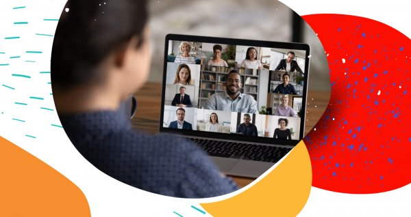 People collaborate in a Microsoft Teams meeting