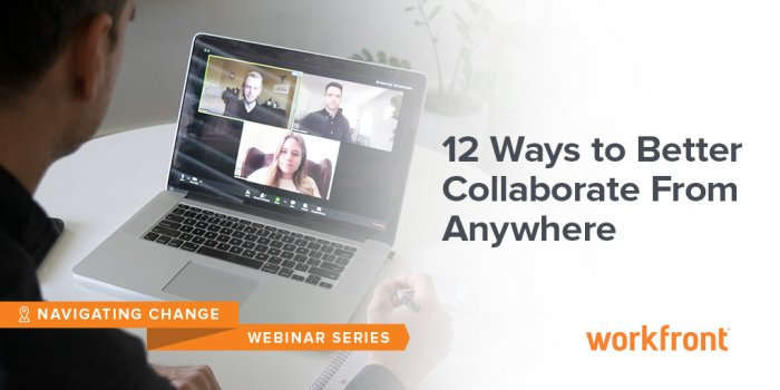 Webinar series image with people on a video call