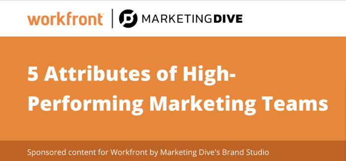 5 attributes of high performing marketing teams