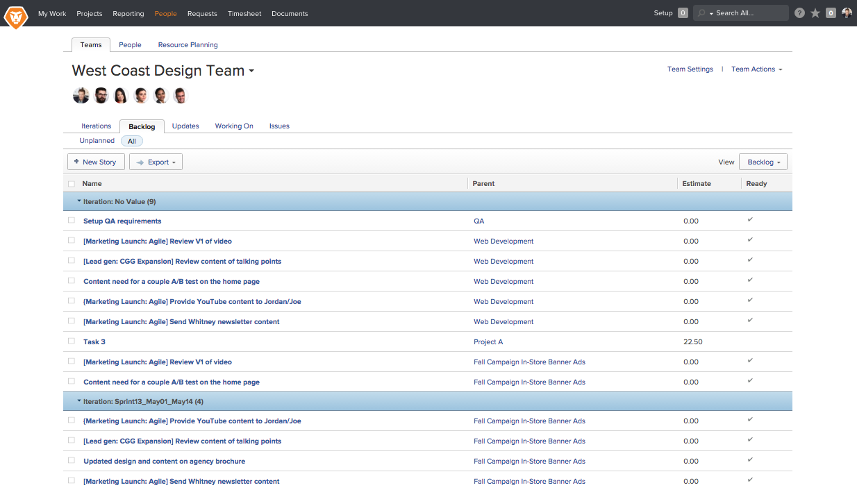 Workfront - Backlog Management