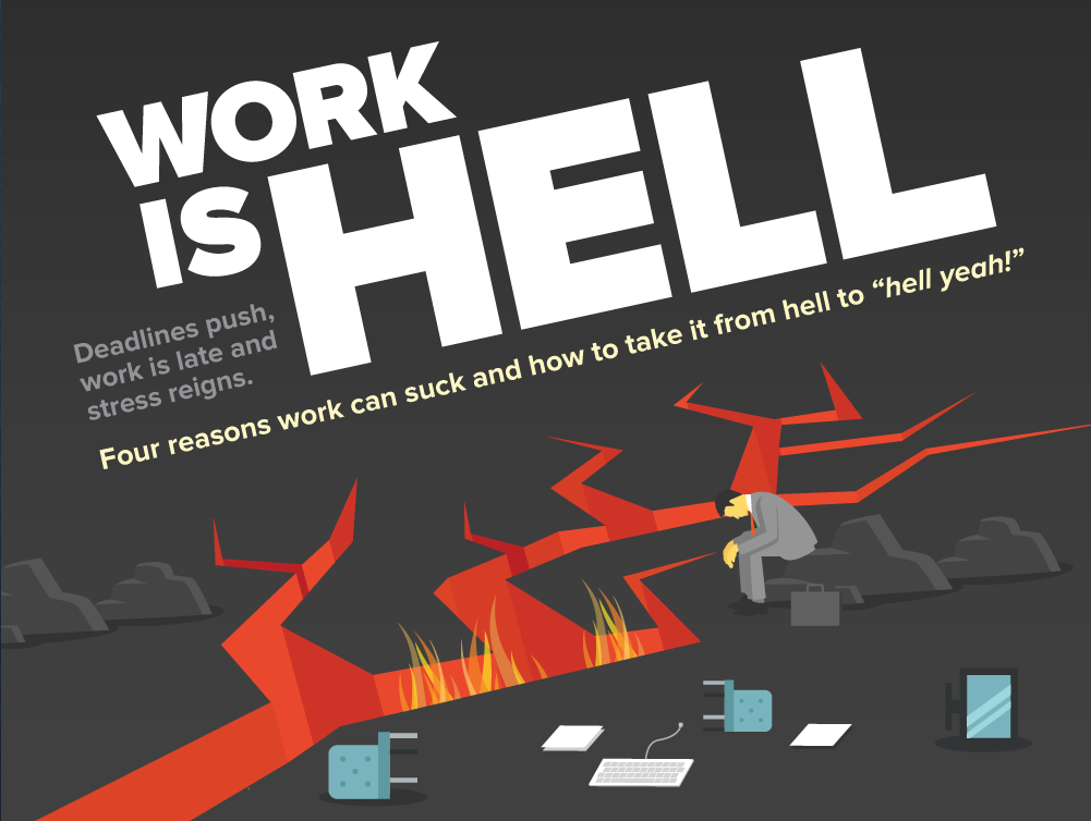 workfront work is hell infographic on work management