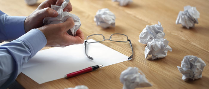 Crumpled Papers on Desk